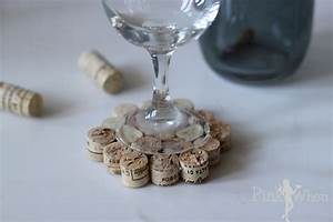 DIY Wine Cork Drink Coaster Tutorial PinkWhen