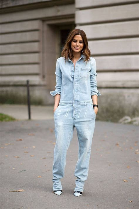 one denim jumpsuit how to style your denim jumpsuit glam radar