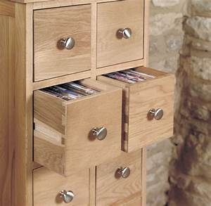 Buy Baumhaus Mobel Oak Multi Drawer CD And DVD Storage