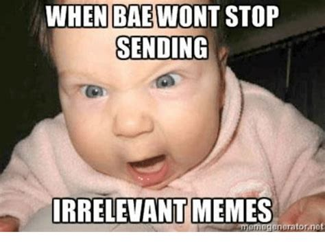 Irrelevant Meme - when bae wont stop sending irrelevant memes bae meme on sizzle