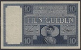 Netherlands banknotes 10 Gulden note of 1927 Peasant woman ...