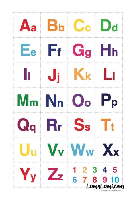jual poster belajar abjad latin  anak huruf kapital