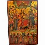 Antique Greek Icon Jesus Orthodox Christ Depicting