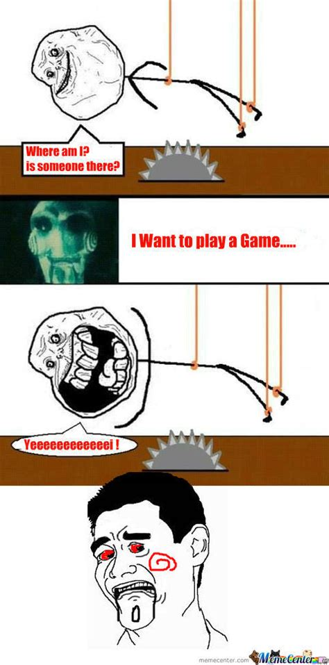 Want To Play A Game Meme - rmx saw i want to play a game by darkwolver meme center