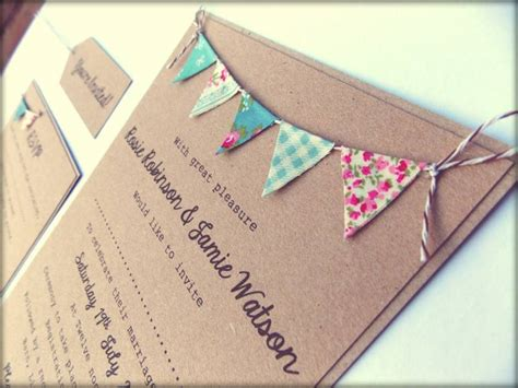 Beautiful Handmade Kraft Paper Wedding Invitations
