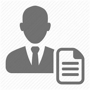 Businessmen, cv, employee, job, profile, resume icon ...