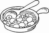 Coloring Pan Frying Pages Casserole Dessin Cuisine Coloriage Printable User Getcolorings Zapisano Uploaded sketch template