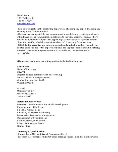 Resume Relevant Coursework by Resume Relevant Coursework