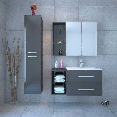 sonix bathroom furniture vanity suite grey buy