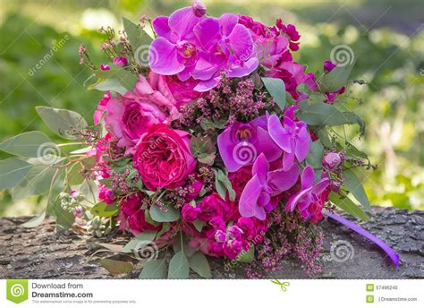 Pink And Purple Wedding Bouquet Stock Photo Image 57496240