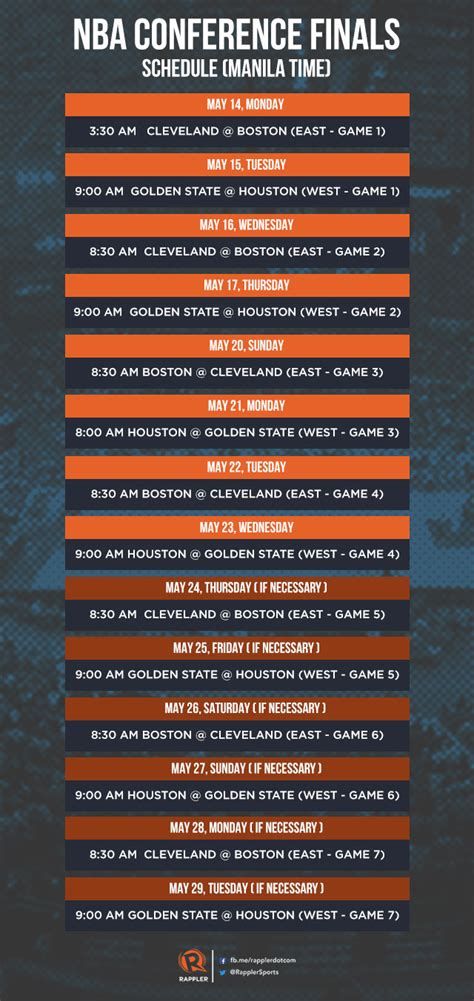 nba conference finals schedule philippine time