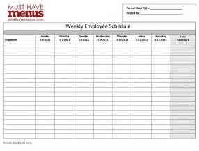 Excel Monthly Work Schedule Template Employee Schedule Template Affordablecarecat