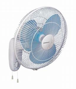 Orient 400 mm wall 44 wall fan crystal white price in for Wall fan