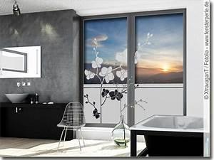 Klebefolie Fenster Sichtschutz : sichtschutzfolie orchidee ~ Watch28wear.com Haus und Dekorationen