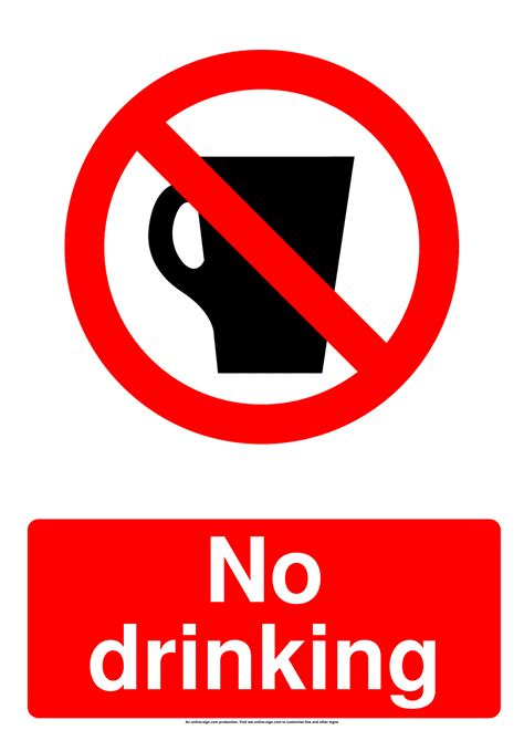 No Food Or Drink Signs | Poster Template