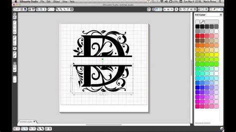split letter tutorial  silhouette cameo youtube