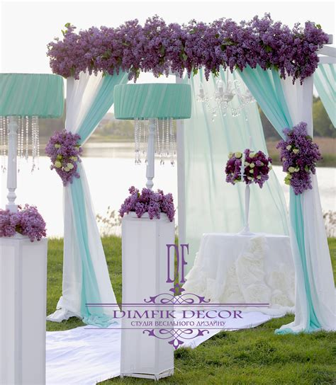 Wedding Ceremony Decorations Lilac And White And Mint
