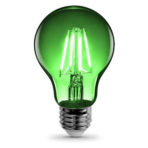 green light bulbs a19 clear glass green led bulb feit electric