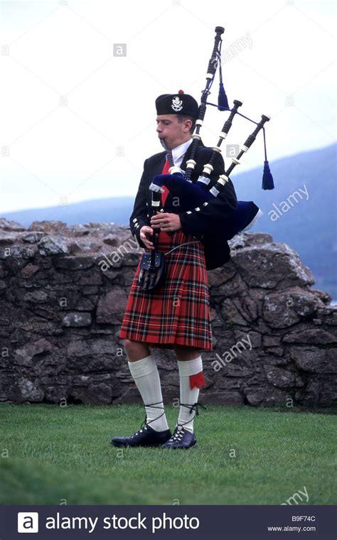 schottische dudelsack spieler schottland uk