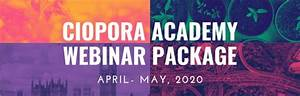 Register For The Ciopora Academy Webinar Savings Package