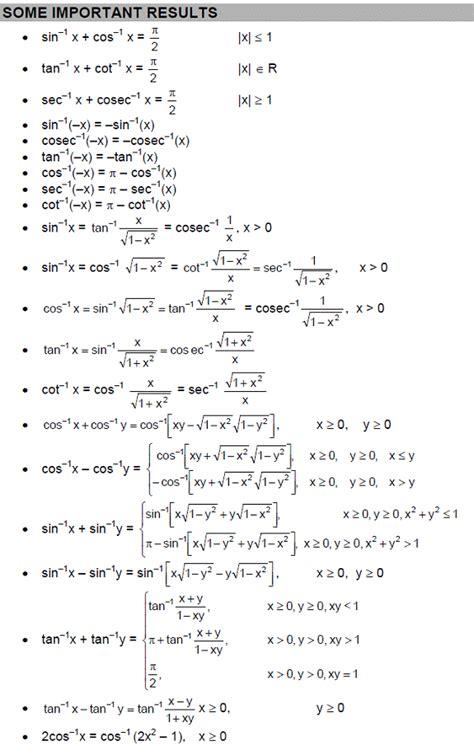 cbse class  maths notes itf important formulas