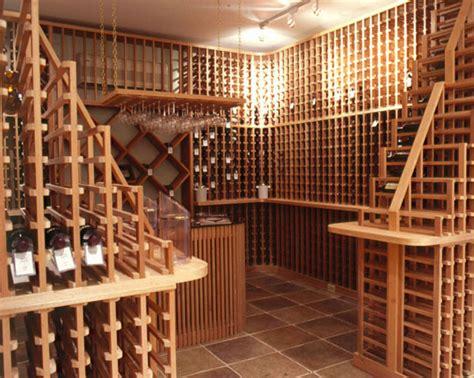 Kitchen Wine Rack Ideas - log home wine cellars
