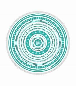 Serviette De Plage Ronde Coton : serviette de plage ronde 150 cm mandala turquoise ~ Teatrodelosmanantiales.com Idées de Décoration