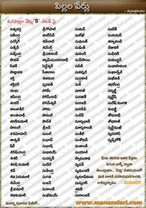 telugu baby boys names names starting with s letter