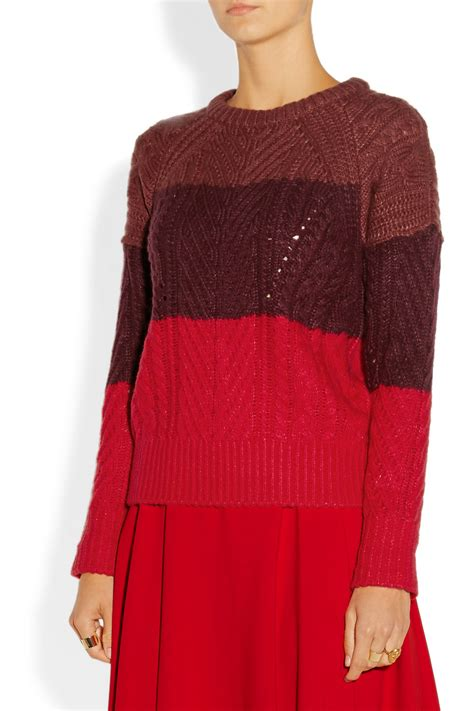 lyst marc  marc jacobs connolly color block wool blend