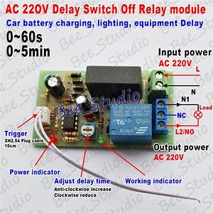 Ac 220v 230v 240v Trigger Delay Timer Switch Turn Off Board Timing Relay Module