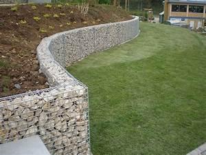 Muret De Cloture : muret sout nement gabion jardin pinterest ~ Melissatoandfro.com Idées de Décoration