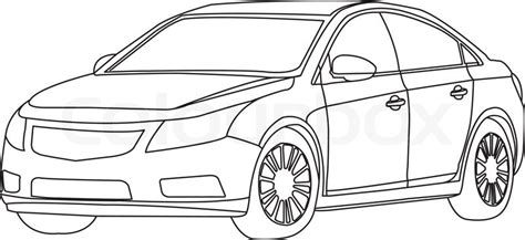 The Car Outline Vector Isolate On ...