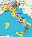 Regions of Italy - name and location on the map