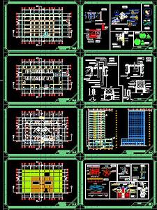 office and commercial building in autocad cad 2 66 mb