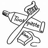 Dental Coloring Hygiene Visitar Cepillado Salud Higiene sketch template