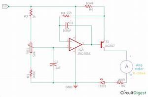 Circuit Diagram For Current Loop Tester Using Op