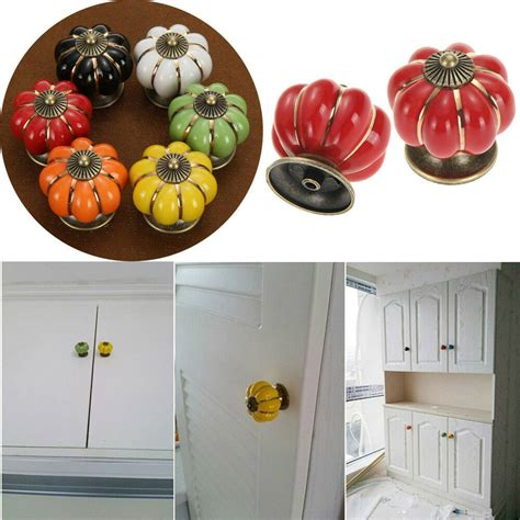 Vintage Ceramic Door Knobs Cabinet Drawer Wardrobe