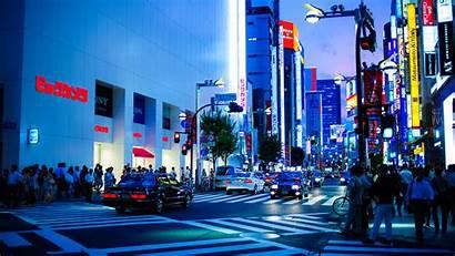 Tokyo Japan Street Shinjuku Lights Wallpapers Dusk