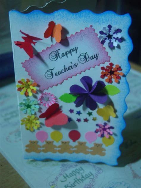 teachers day card  daughters creations pinterest