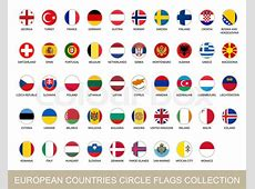 European Countries Circle Flags Collection Circle Flags