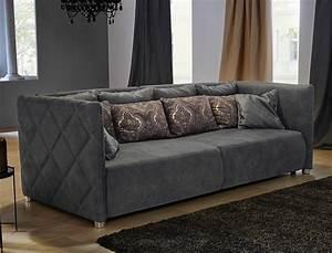 Big Sofa Grau : big sofa tristan 260x120 cm nabukoptik grau wohnlandschaft couch sofa wohnbereiche wohnzimmer ~ Buech-reservation.com Haus und Dekorationen