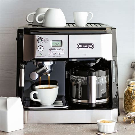 Back to single serve coffee makers. De'Longhi Combination Pump Espresso and 10-Cup Drip Coffee Machine with Advanced Cappuccino ...