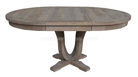 table ronde extensible de salon en bois helise mobilier moss