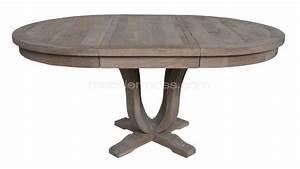 Table ronde extensible de salon en bois helise for Deco cuisine pour table ronde bois blanc avec rallonge