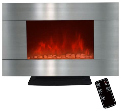 fireplace pebbles electric fireplace with pebbles and led light contemporary