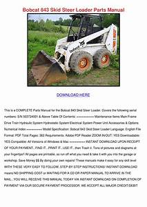 Bobcat 843 Skid Steer Loader Parts Manual By Leighlawler