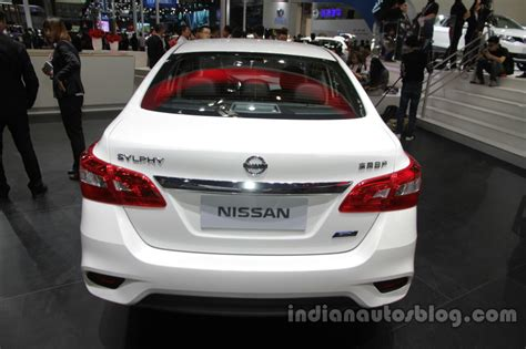 nissan sylphy 2016 2016 nissan sylphy at auto china 2016 rear indian autos blog