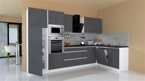 Kitchenette Kaufen winkelk 252 che kitchen unit kitchenette l shape grifflos grey