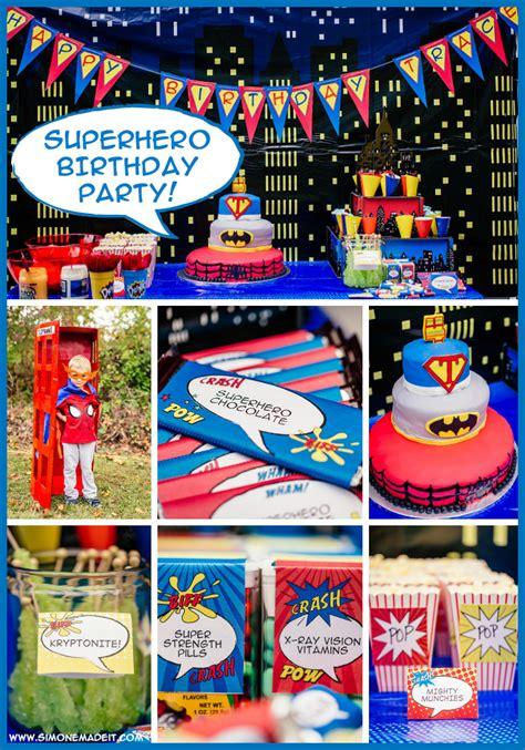 traces  year  superhero birthday party simonemadeit