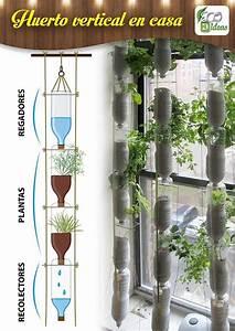 Huerto vertical en casa con botellas de plastico for 5 cultivos faciles para empezar un huerto en casa